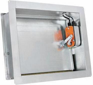 Клапан дымоудаления DVSW 90ME/180ME стенового типа