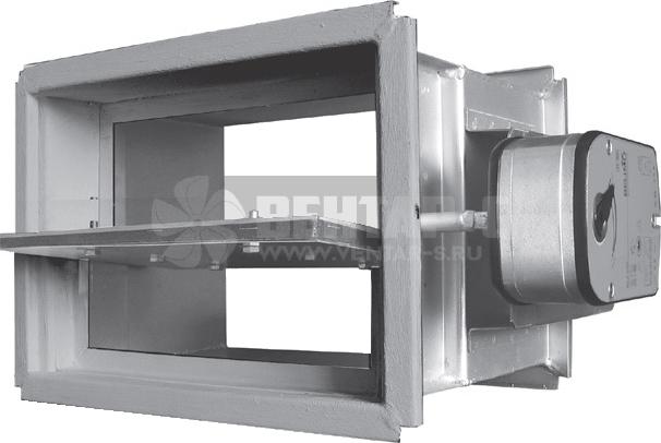 Клапан UVS 60ME/90ME/120ME-НЗ, прямоугольного сечения