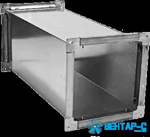 Воздуховод прямоугольного сечения с фланцами — прямой участок