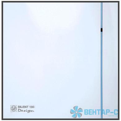 Вентилятор накладной SILENT-100 CRZ DESIGN с таймером