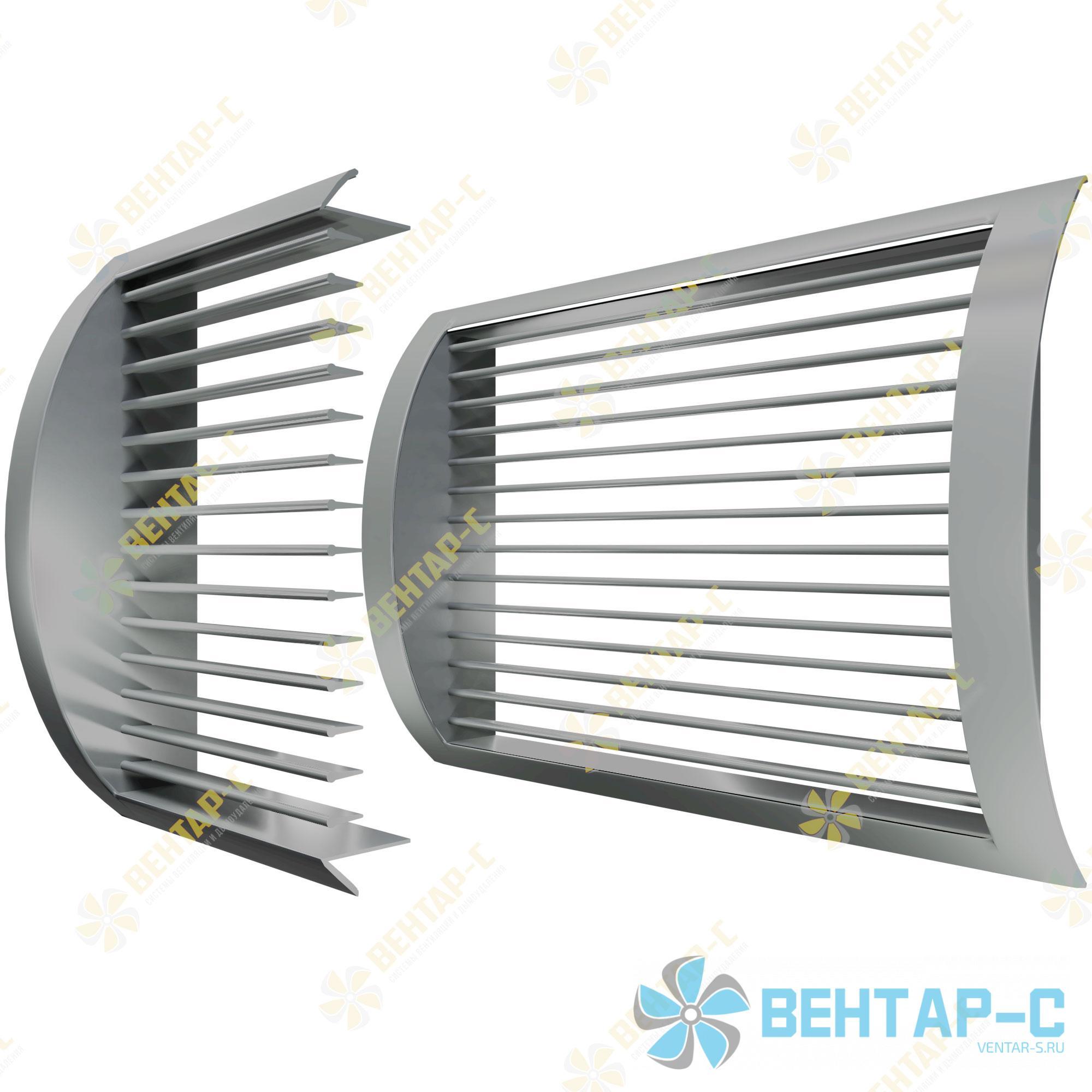 Цилиндрическая однорядная регулируемая вентиляционная решетка ОГРЦ