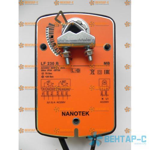 Электропривод Нанотек LF 230 B (3 Нм) воздушной заслонки