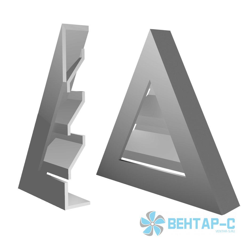 Наружная треугольная вентиляционная решетка ФВРНТ