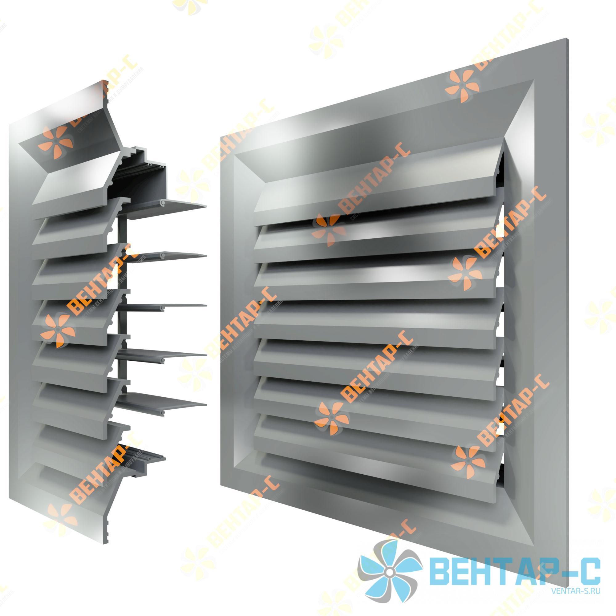 Потолочная вентиляционная решетка 1РПБ с блоком регулировки воздуха