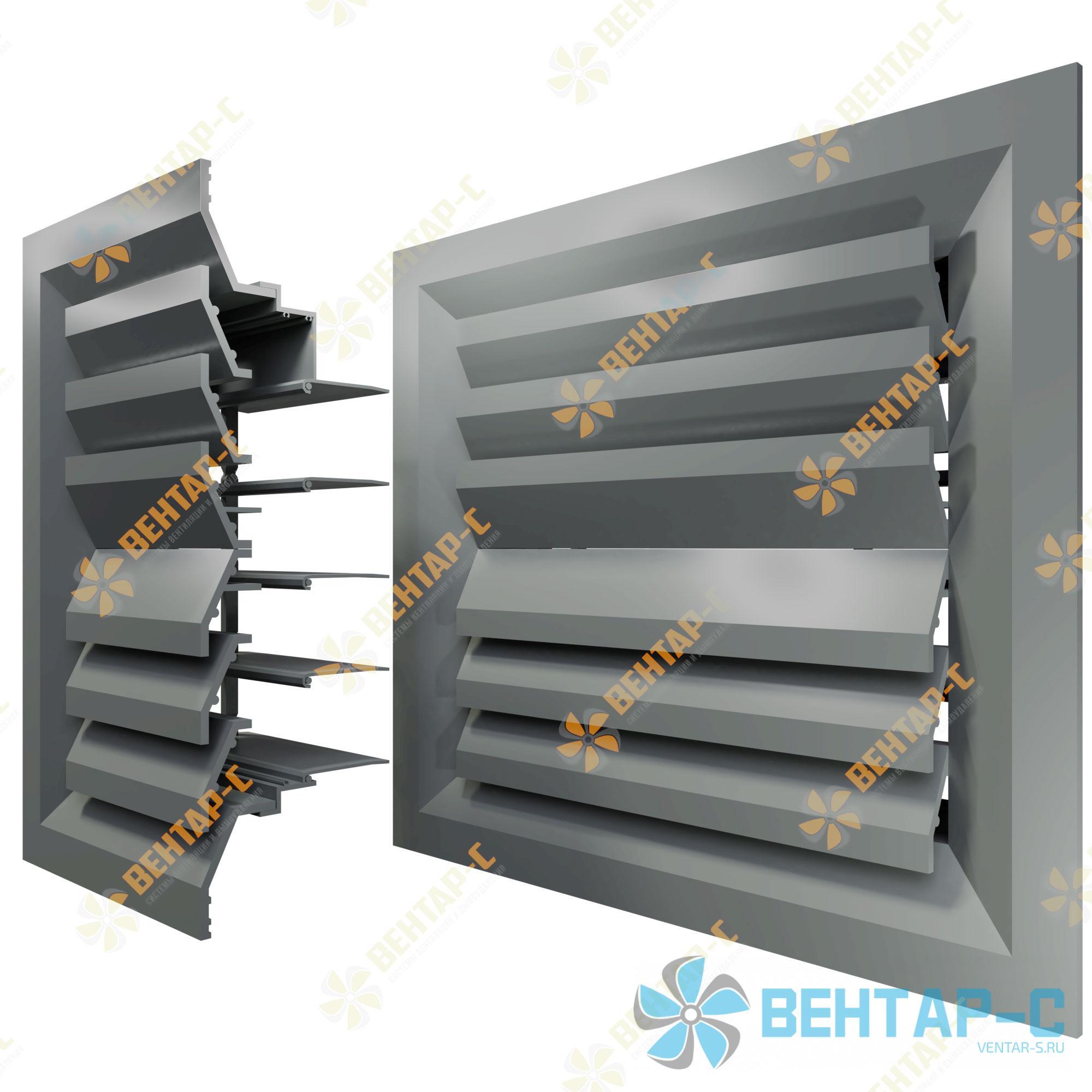 Потолочная вентиляционная решетка 2РПБ с блоком регулировки воздуха