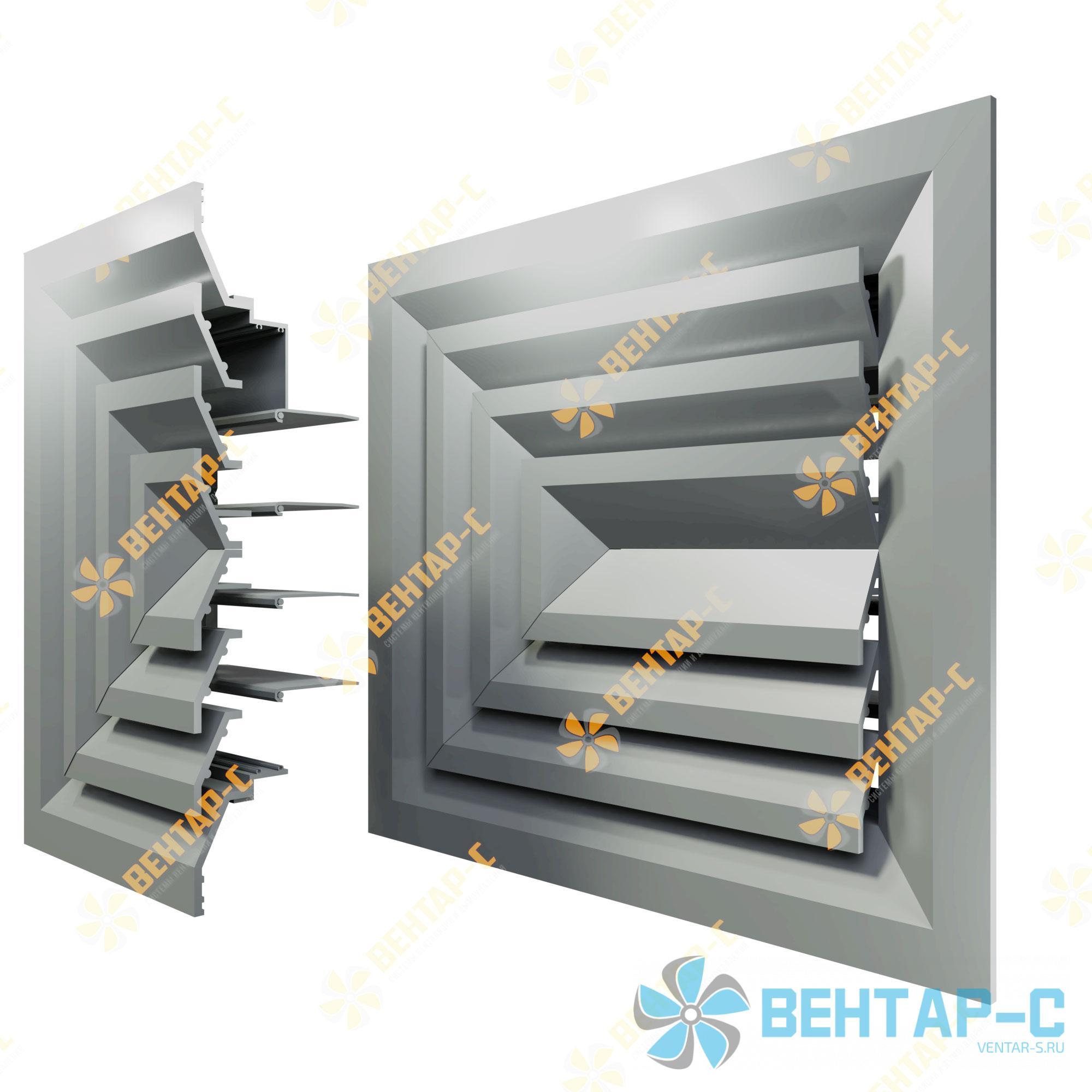 Потолочная вентиляционная решетка 3РПБ с блоком регулировки воздуха