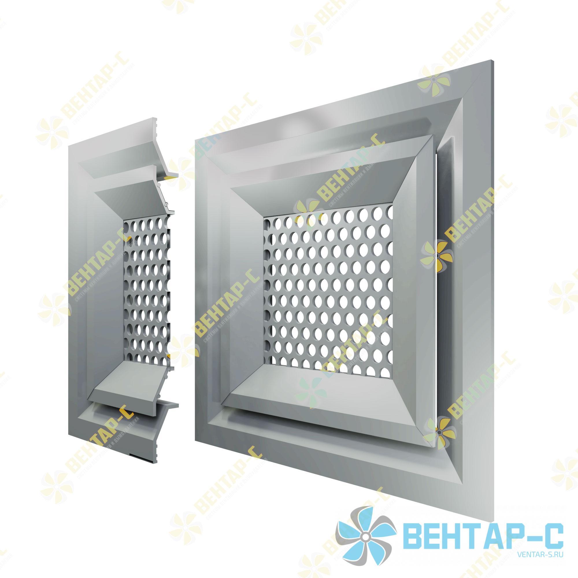 Потолочная перфорированная вентиляционная решетка 4ВРП