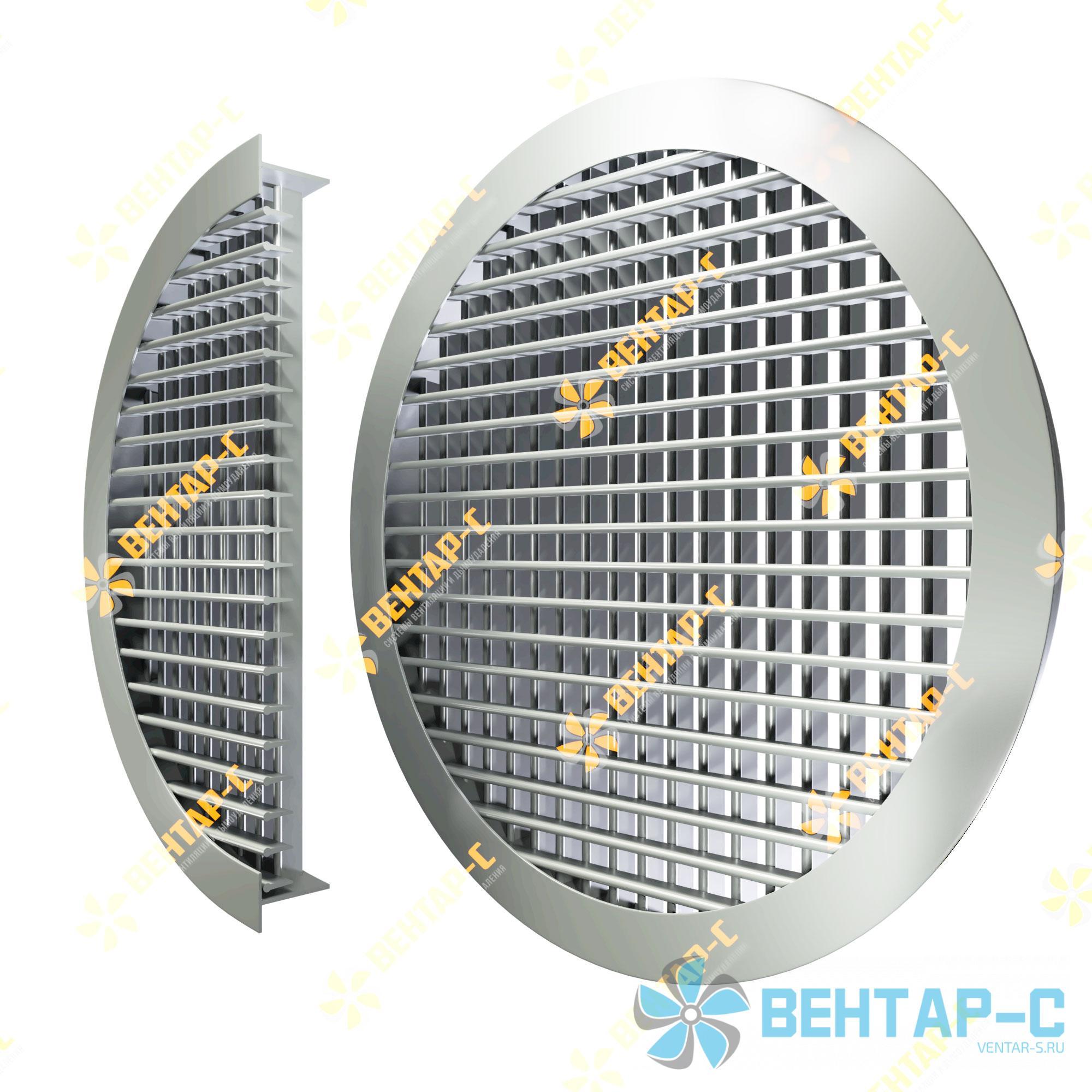 Двухрядная регулируемая круглая вентиляционная решетка ДВРК