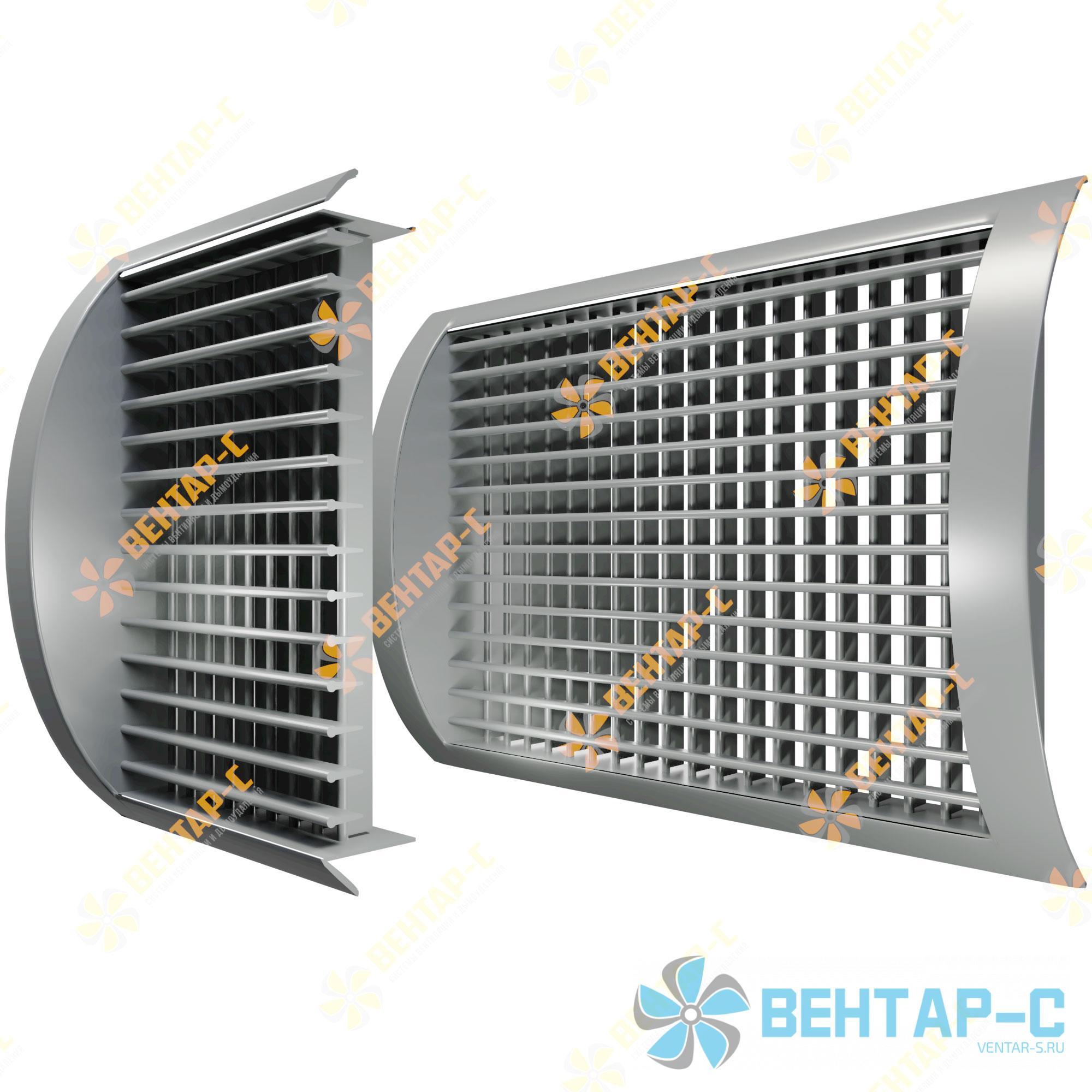 Двухрядная регулируемая вентиляционная решетка ДВРЦ для круглых воздуховодов