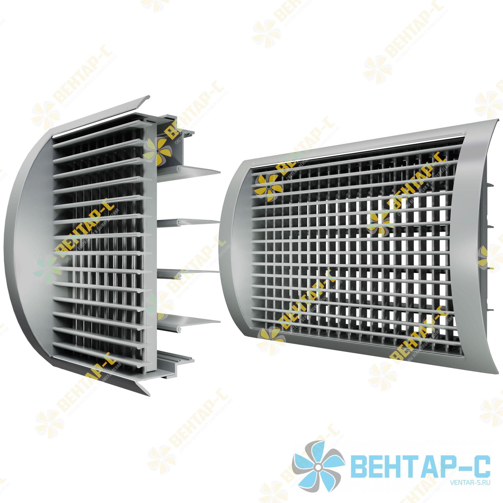 Двухрядная регулируемая вентиляционная решетка ДВРЦБ