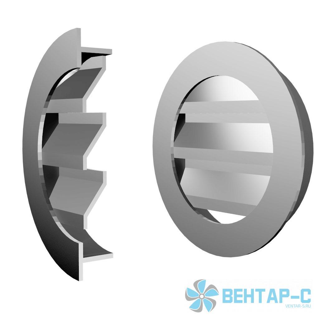 Круглая вентиляционная решетка ФВРГК С Г-образными жалюзи