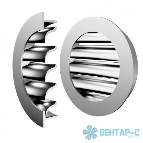 Круглая решетка ФВРСК С S-образными жалюзи
