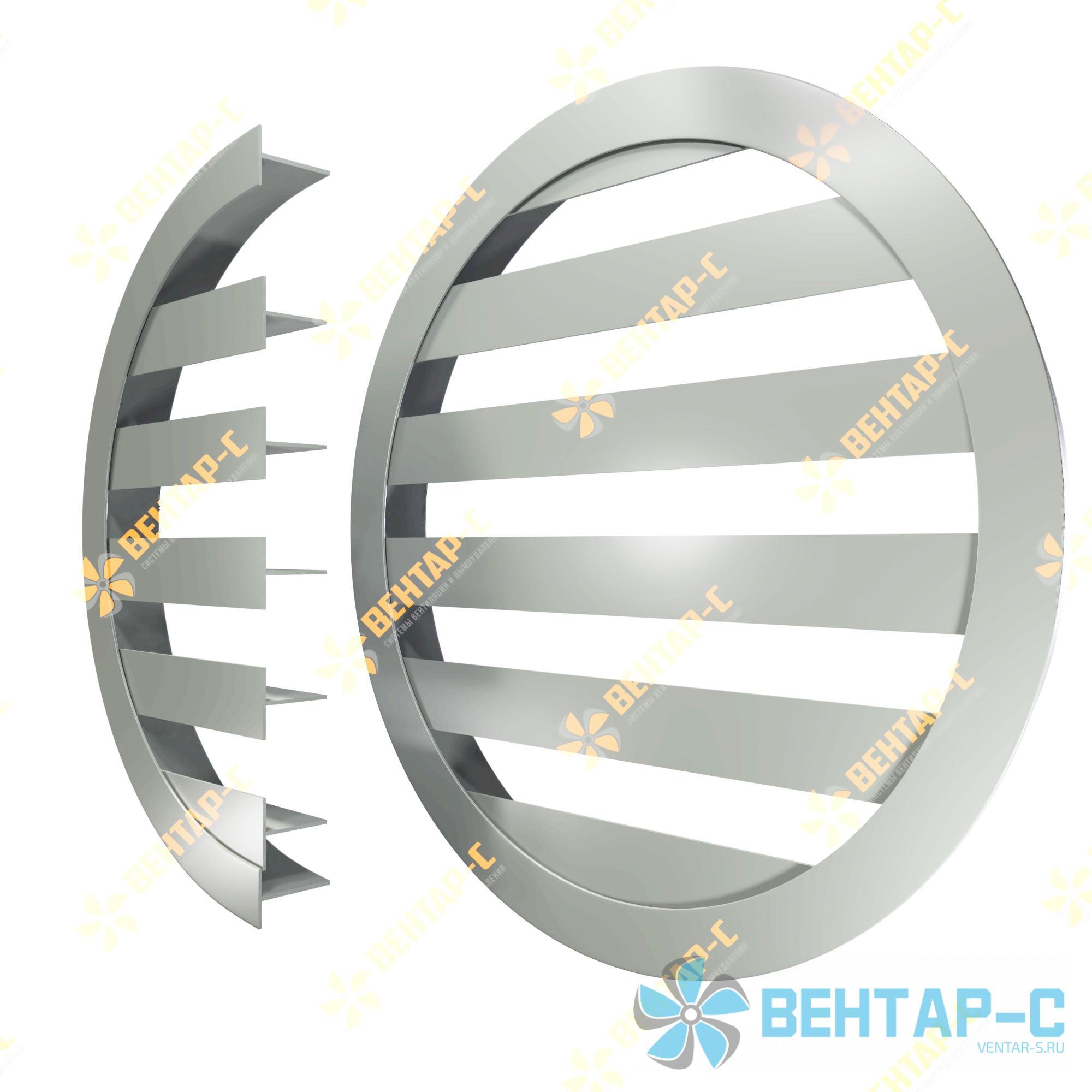 Линейная круглая вентиляционная решетка НЩТК