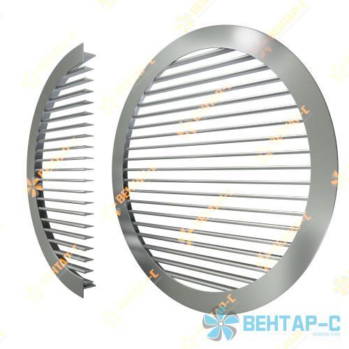 Однорядная регулируемая круглая вентиляционная решетка ОГРК