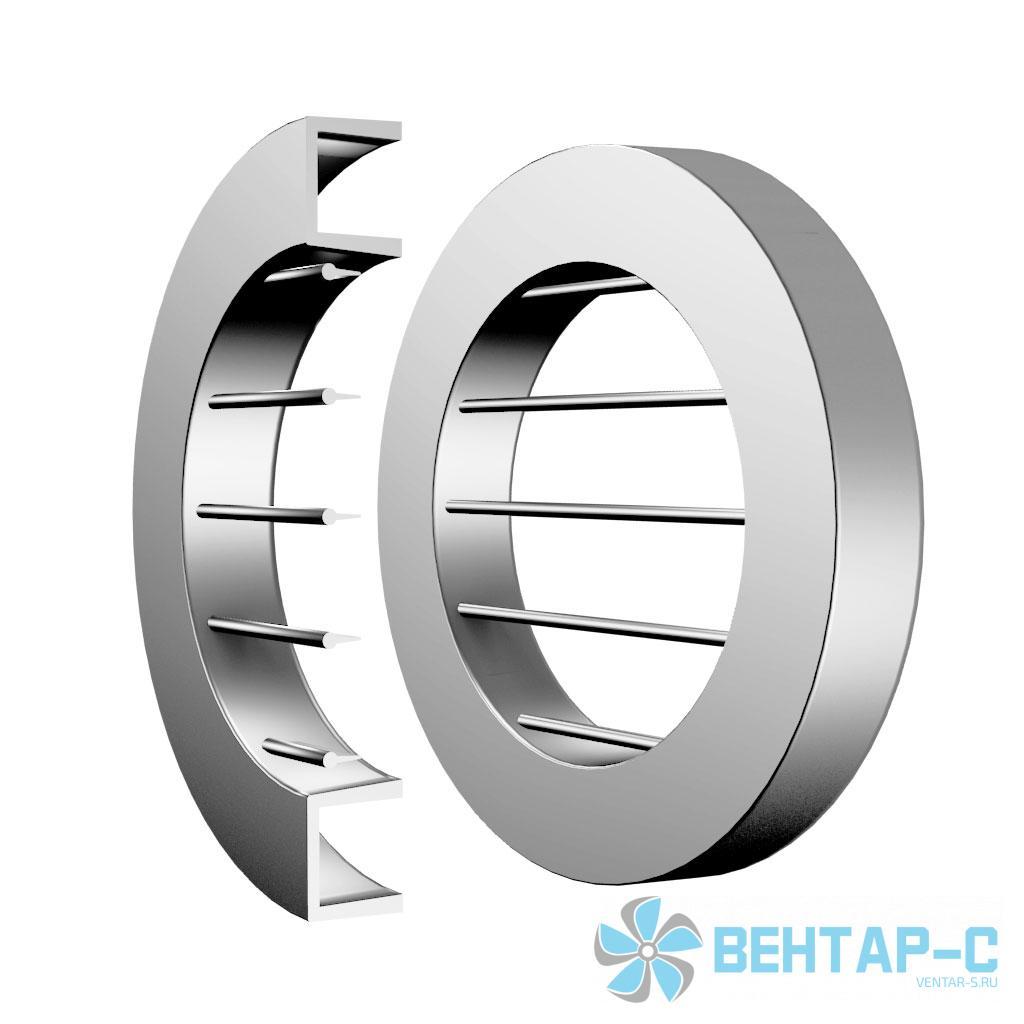 Однорядная нерегулируемая накладная круглая вентиляционная решетка ОГРННК