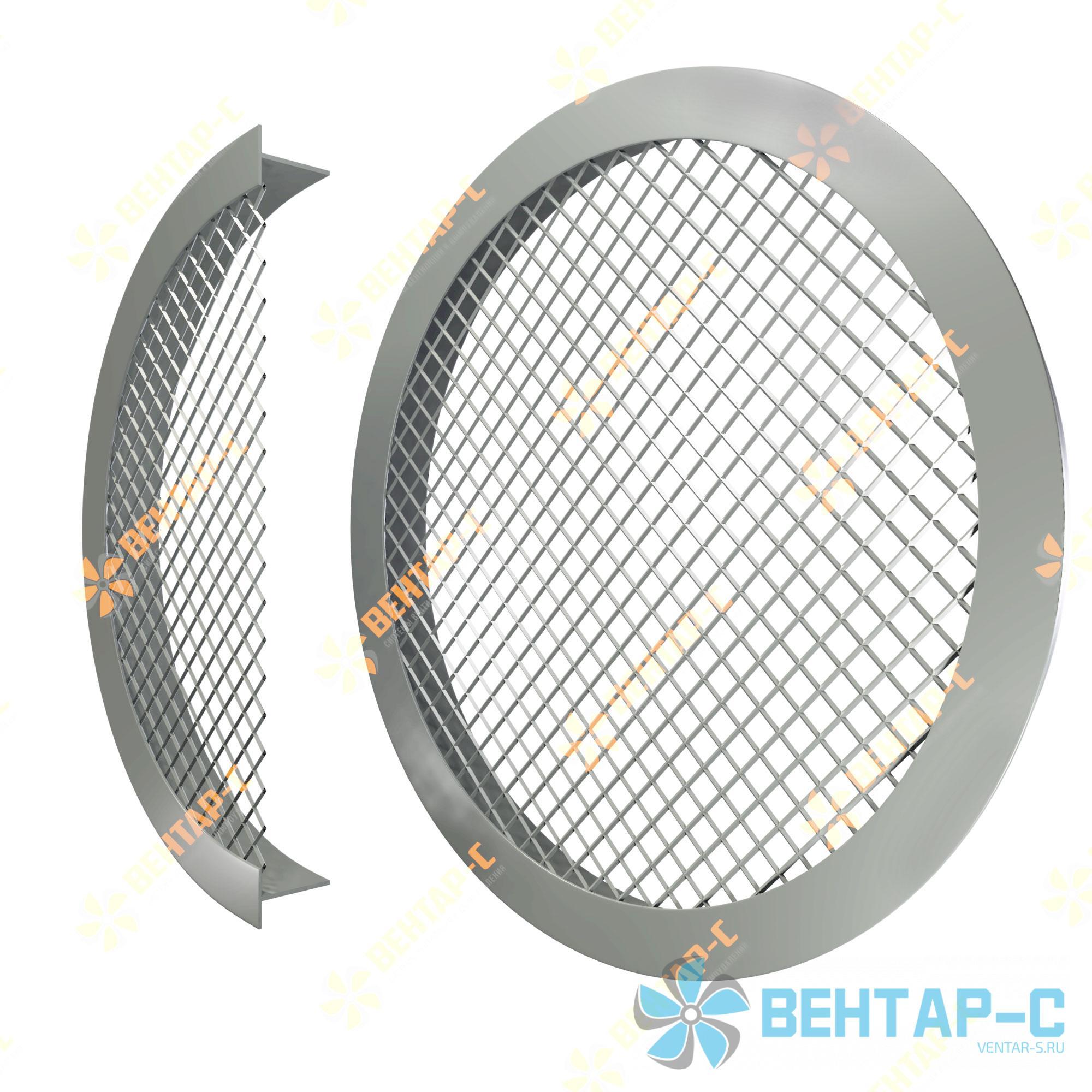 Сетчатая круглая вентиляционная решетка РСК