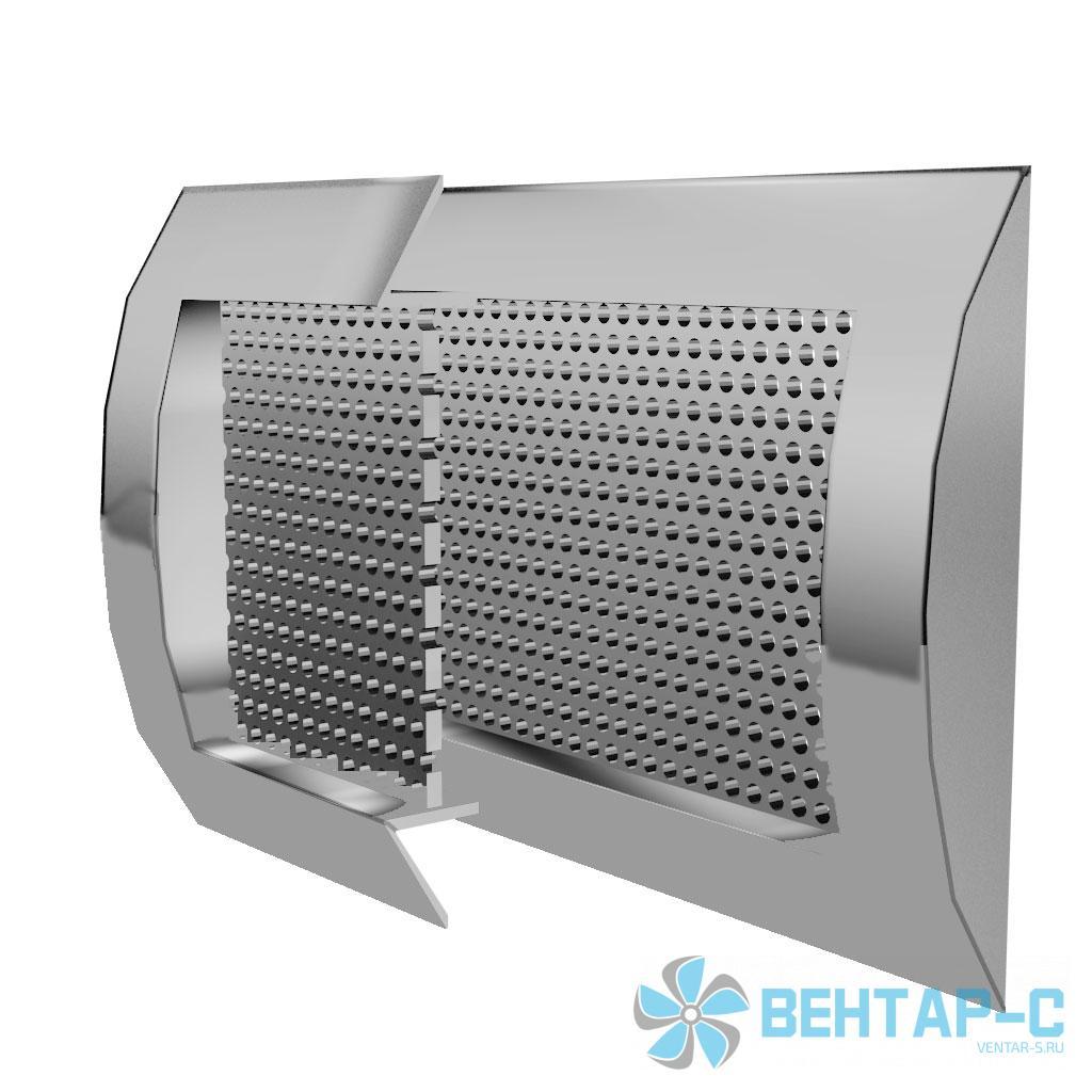 Цилиндрическая перфорированная вентиляционная решетка ВРПЦ