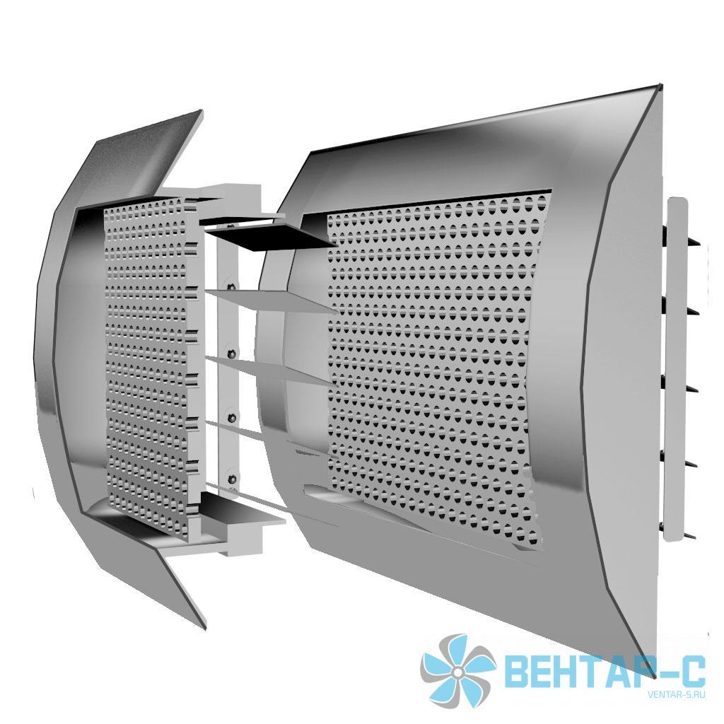 Цилиндрическая перфорированная вентиляционная решетка ВРПЦБ