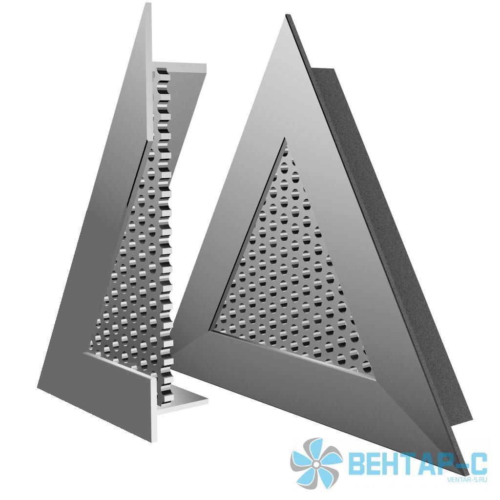 Перфорированная треугольная вентиляционная решетка ВРПТ