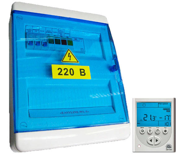 Шкаф управления с водяным нагревателем EASYLINE WS-3/6.5